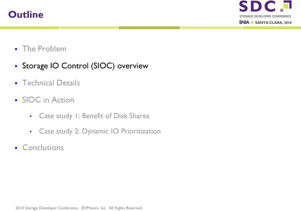 Action Case study 1: Benefit of Disk Shares