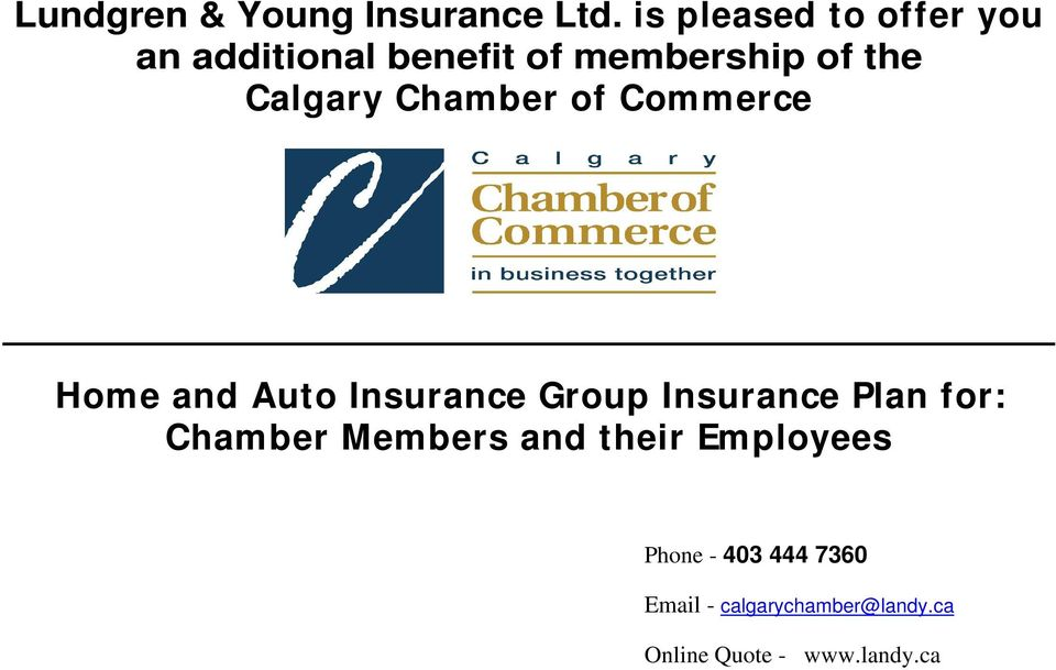 membership of the Calgary Chamber of Commerce Home