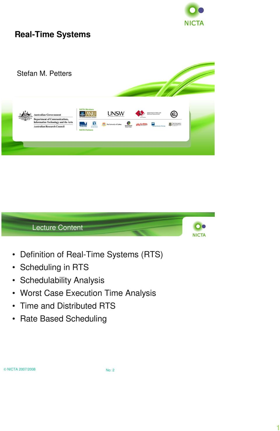 (RTS) Scheduling in RTS Schedulability Analysis Worst Case
