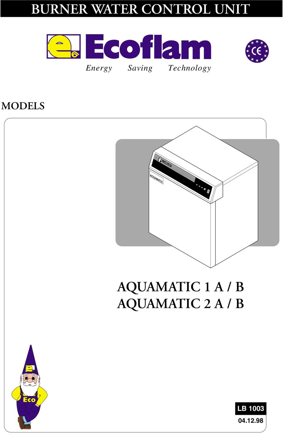 MODELS AQUAMATIC 1 A / B