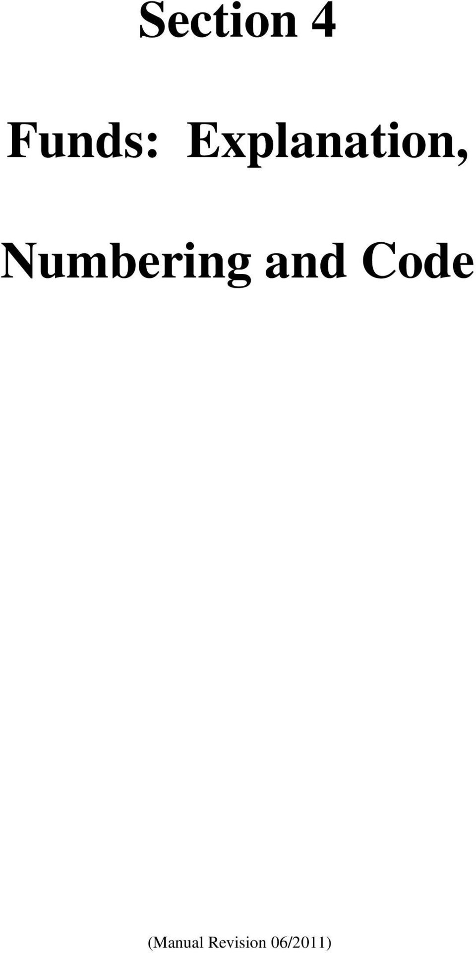 Numbering and Code