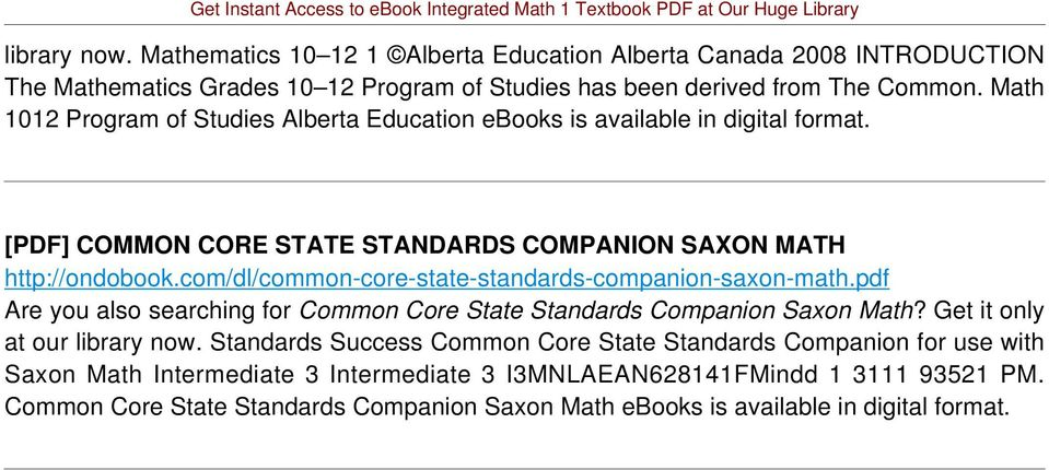 com/dl/common-core-state-standards-companion-saxon-math.pdf Are you also searching for Common Core State Standards Companion Saxon Math? Get it only at our library now.