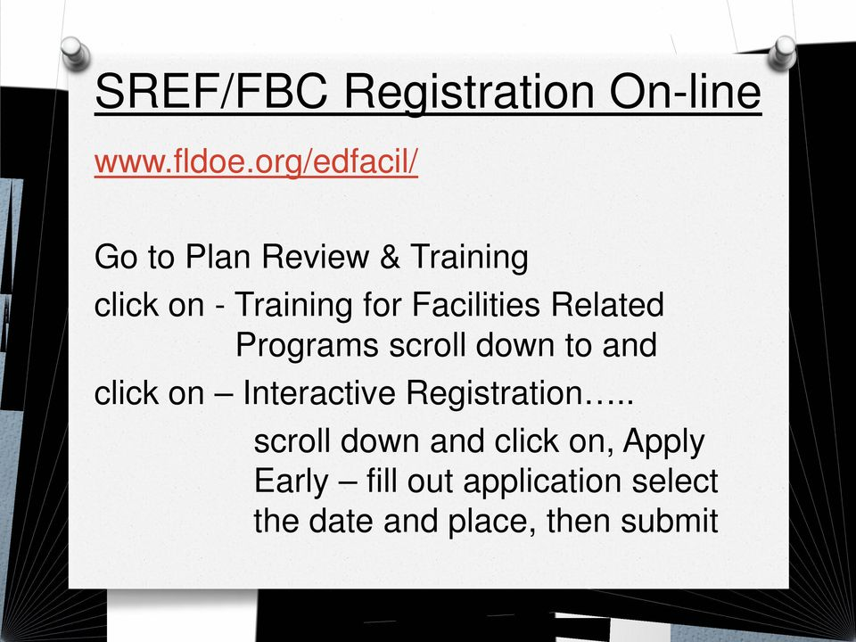 Facilities Related Programs scroll down to and click on Interactive