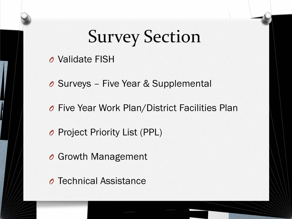 Plan/District Facilities Plan O Project