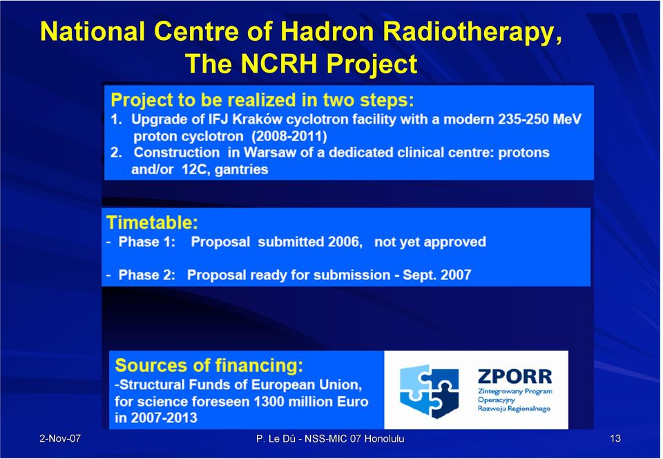 The NCRH Project P.