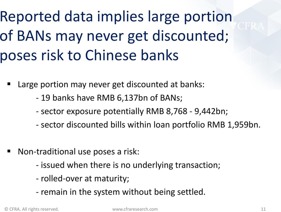 8,768-9,442bn; - sector discounted bills within loan portfolio RMB 1,959bn.