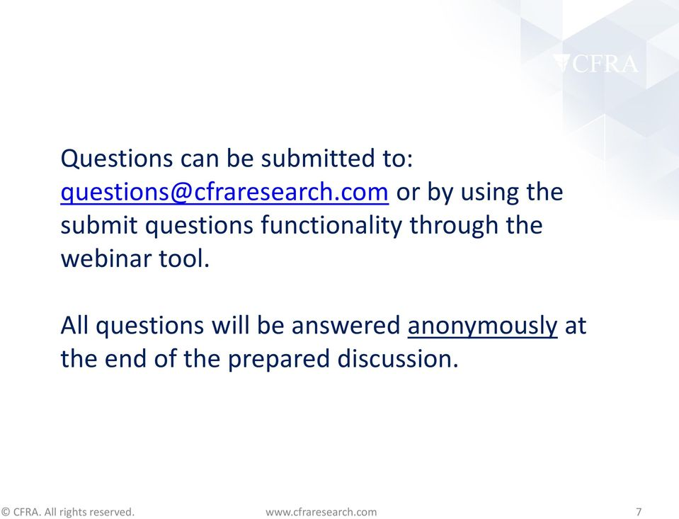 through the webinar tool.