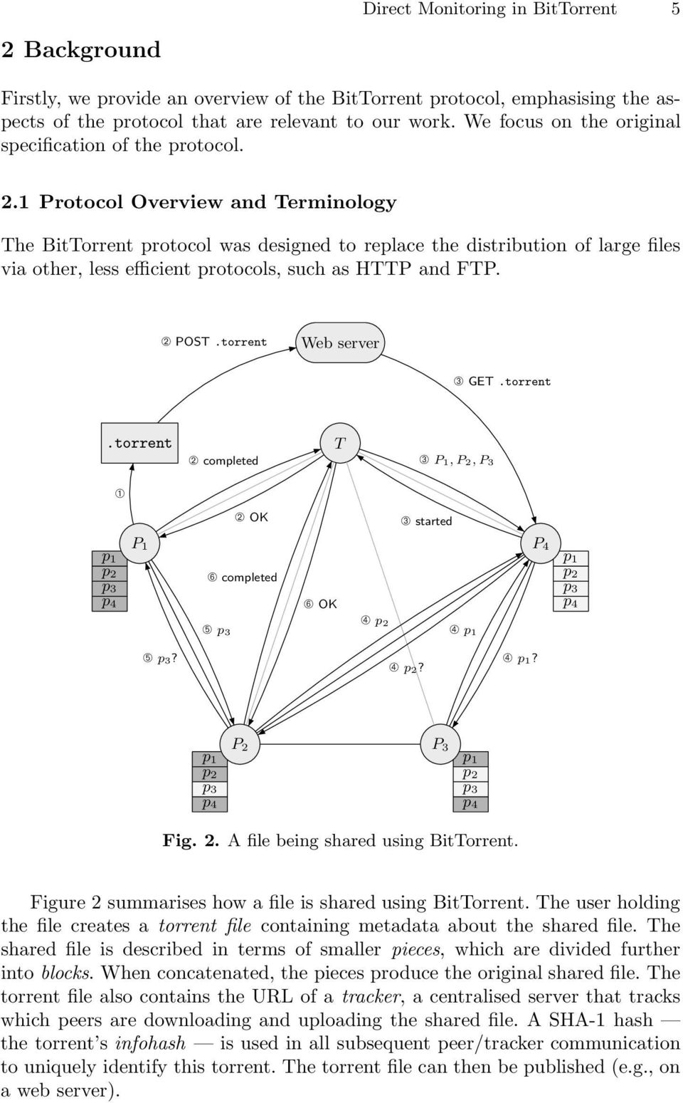 1 Protocol Overview and Terminology The BitTorrent protocol was designed to replace the distribution of large files via other, less efficient protocols, such as HTTP and FTP. ➁ POST.