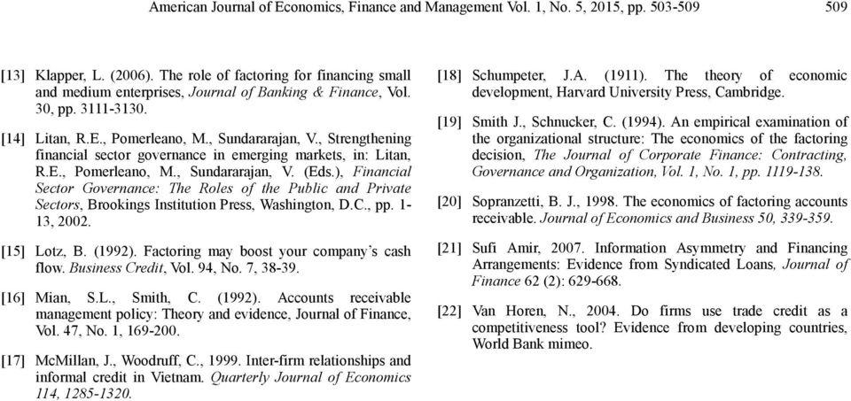 , Strengthening financial sector governance in emerging markets, in: Litan, R.E., Pomerleano, M., Sundararajan, V. (Eds.