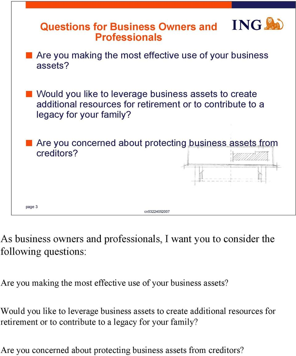 Are you concerned about protecting business assets from creditors?
