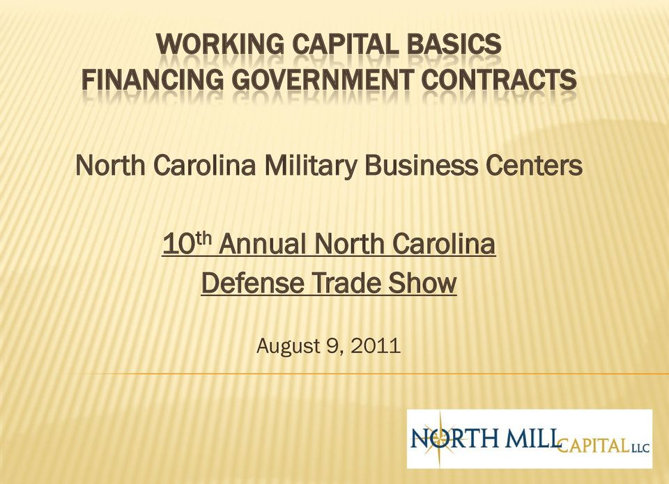 Military Business Centers 10 th Annual