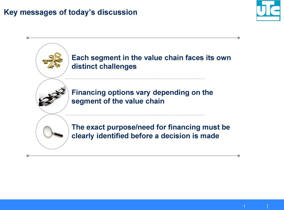 depending on the segment of the value chain The exact