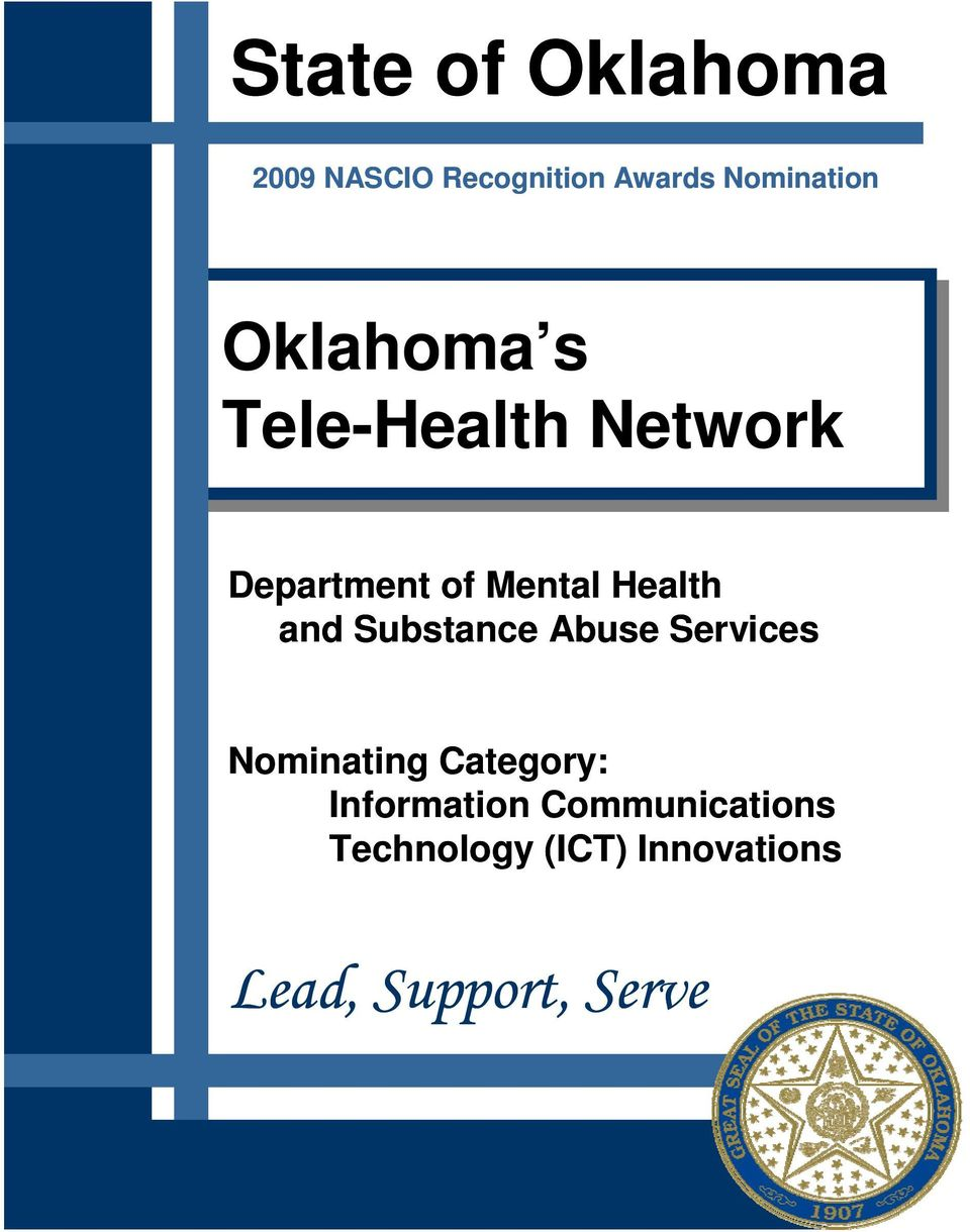 and Substance Abuse Services Nominating Category: Information