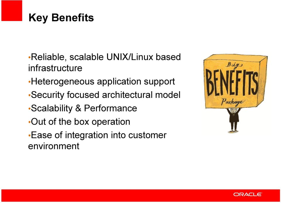 focused architectural model Scalability & Performance Out