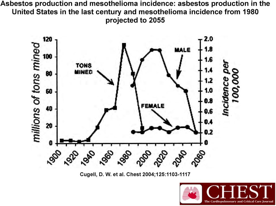 century and mesothelioma incidence from 1980