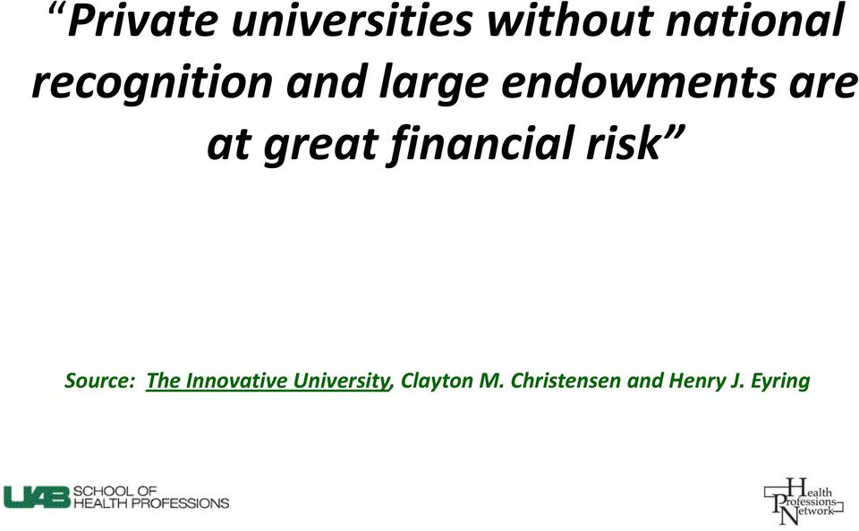 great financial risk Source: The Innovative