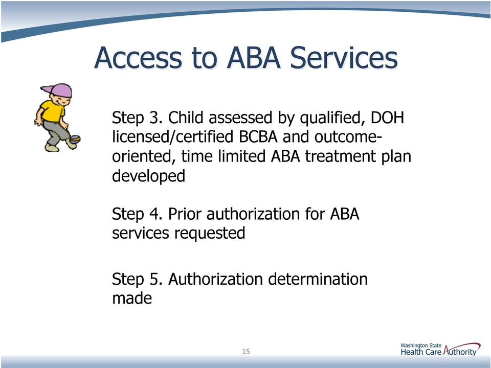 and outcomeoriented, time limited ABA treatment plan