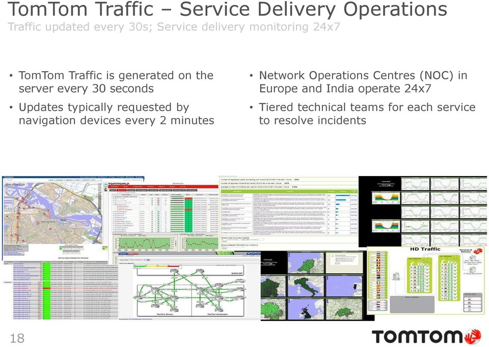 typically requested by navigation devices every 2 minutes Network Operations Centres