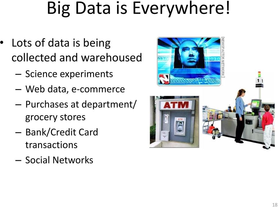 Science experiments Web data, e-commerce