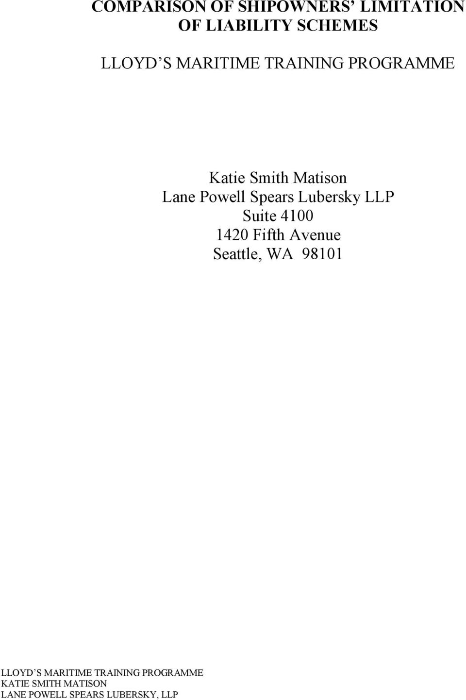 Lane Powell Spears Lubersky LLP Suite
