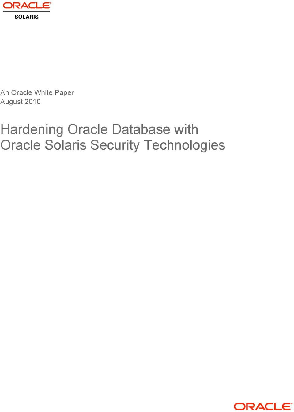 Oracle Database with