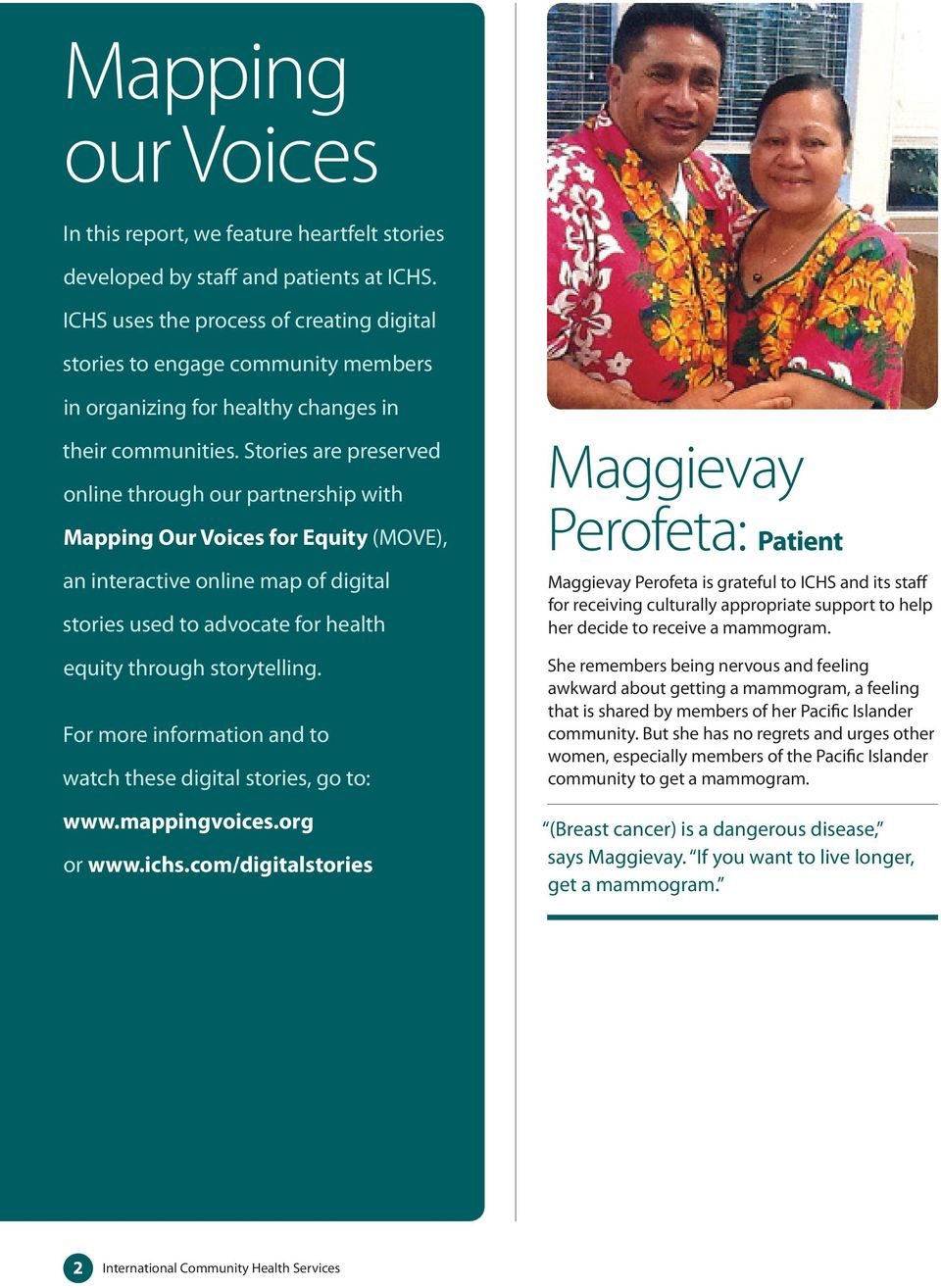 2014 Annual Report HEALTHY PEOPLE STRONGER FAMILIES VIBRANT