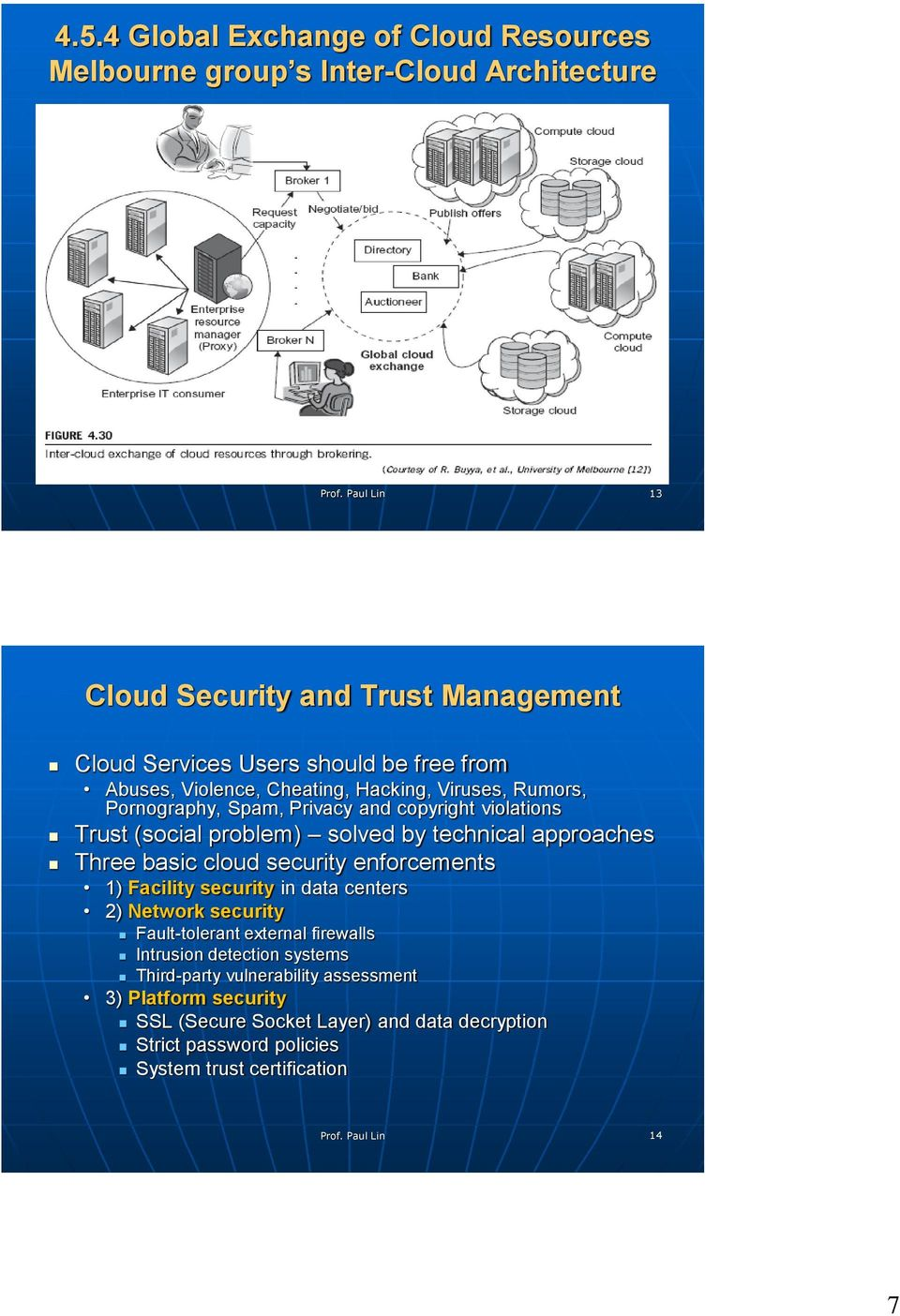 approaches Three basic cloud security enforcements 1) Facility security in data centers 2) Network security Fault-tolerant external firewalls Intrusion