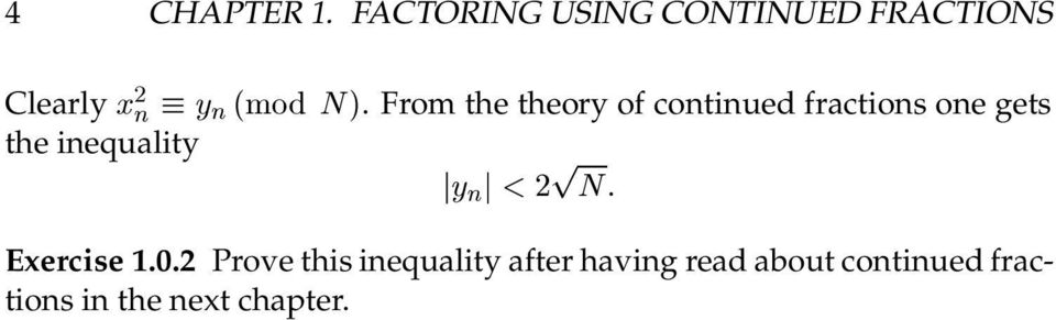 From the theory of continued fractions one gets the