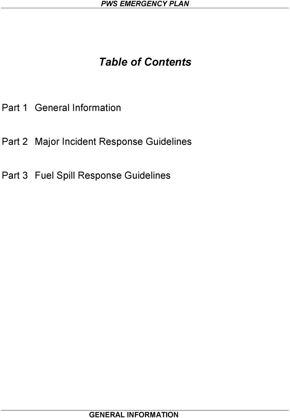 Response Guidelines Part 3 Fuel
