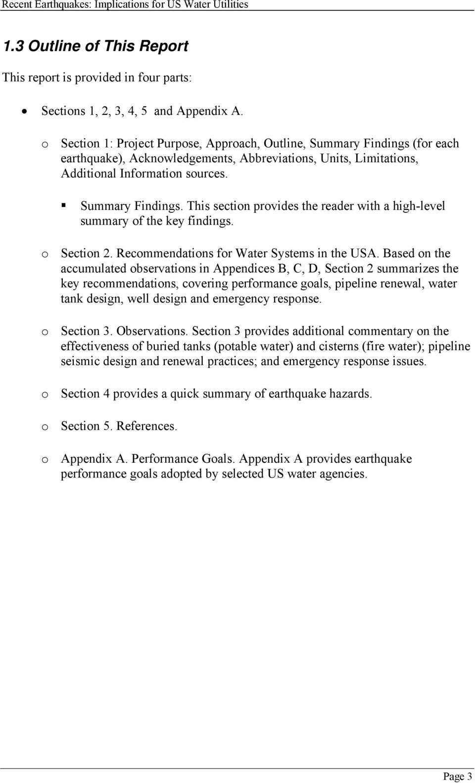 o Section 2. Recommendations for Water Systems in the USA.