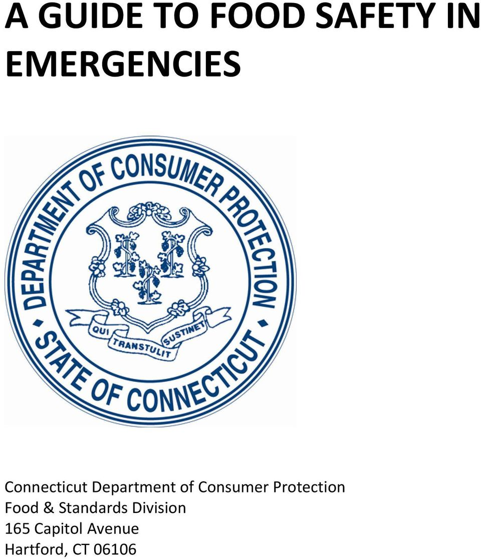 of Consumer Protection Food &
