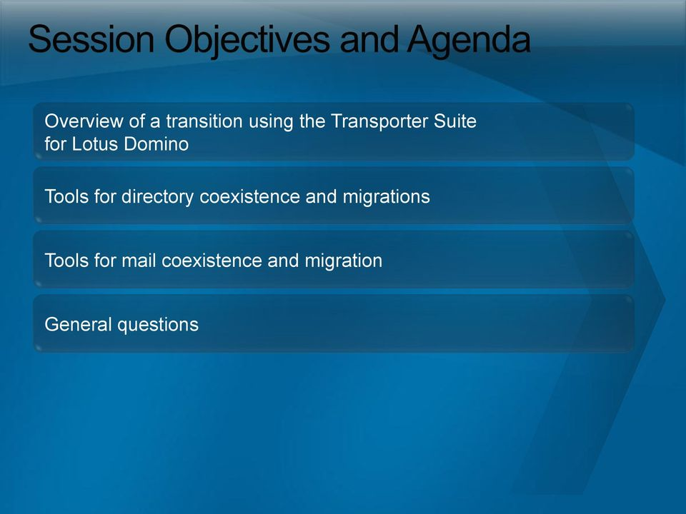 directory coexistence and migrations