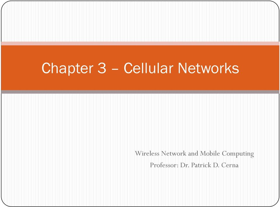 Network and Mobile