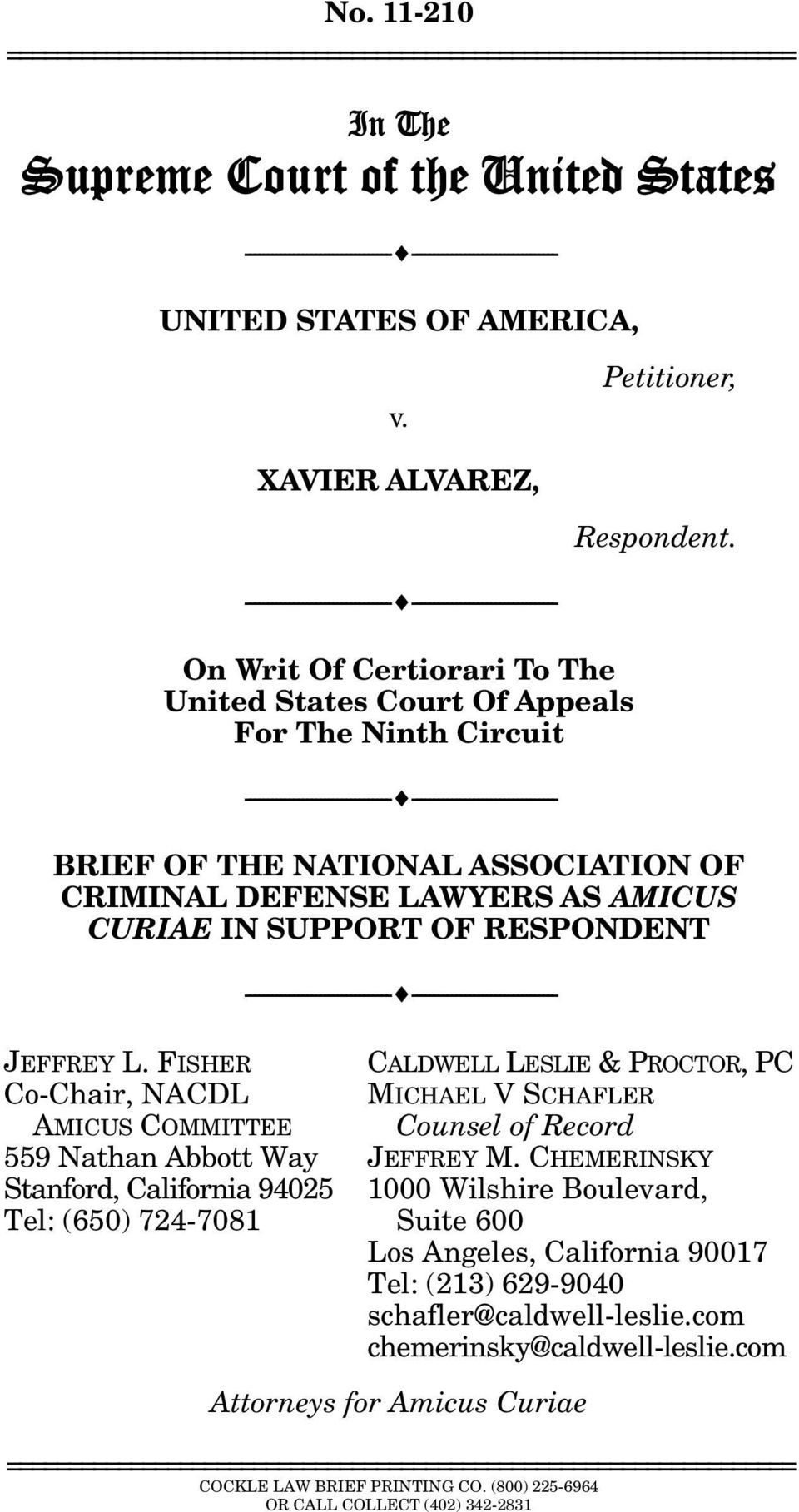 --------------------------------- --------------------------------- On Writ Of Certiorari To The United States Court Of Appeals For The Ninth Circuit ---------------------------------