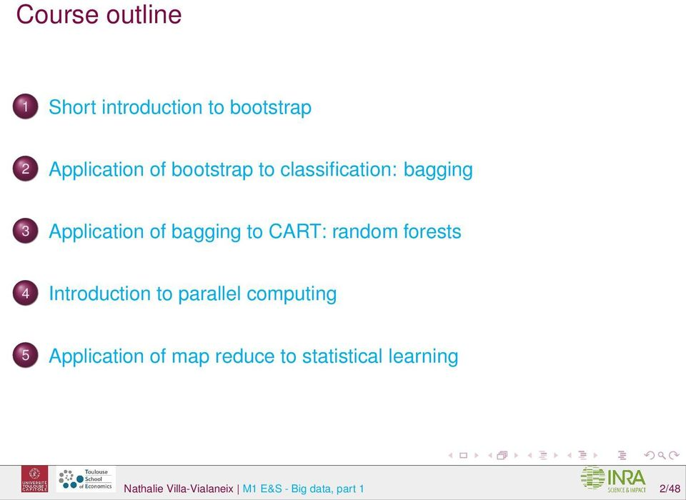 random forests 4 Introduction to parallel computing 5 Application of map