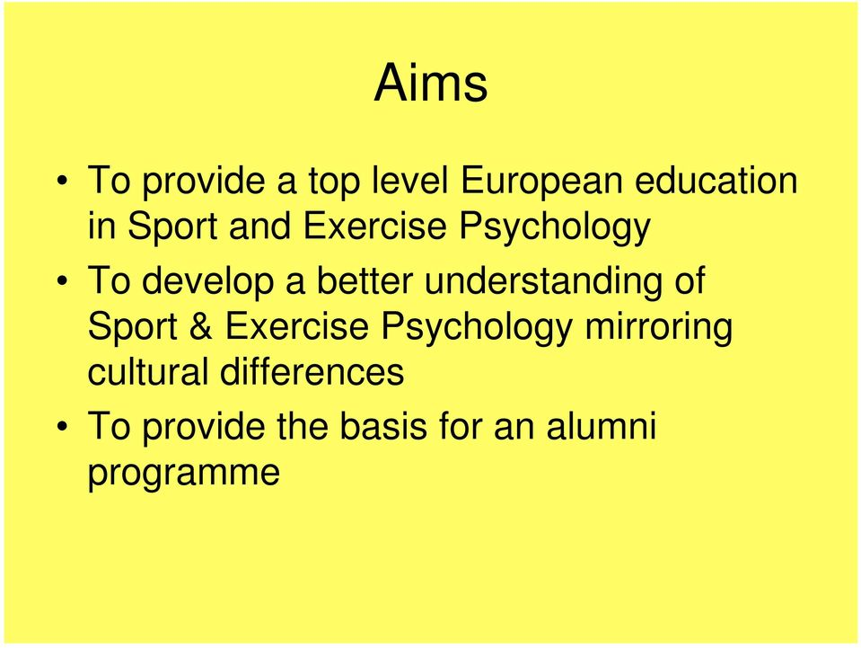 understanding of Sport & Exercise Psychology mirroring