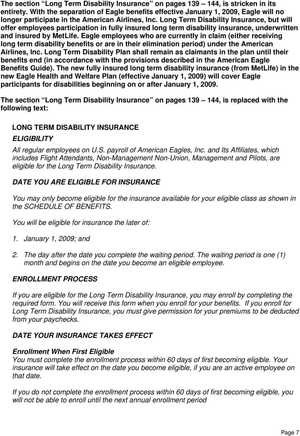 American Eagle Airlines. Employee Benefits Guide - PDF