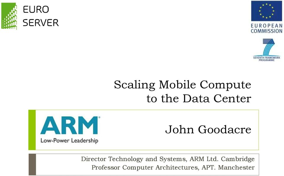 Technology and Systems, ARM Ltd.