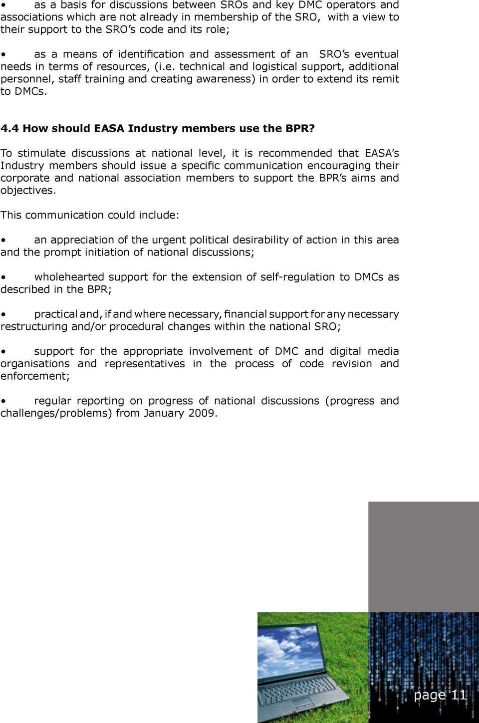 4.4 How should EASA Industry members use the BPR?