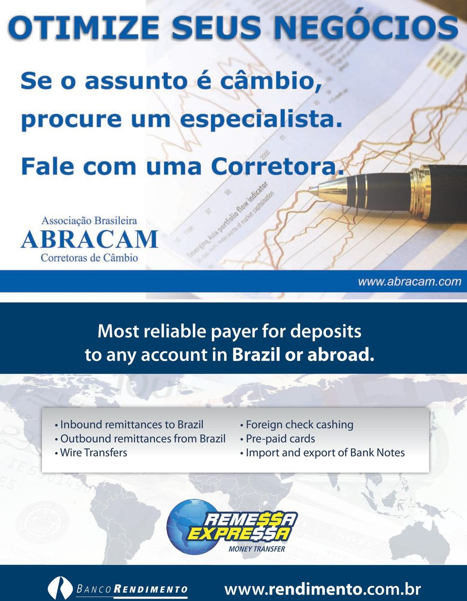 Inbound remittances to Brazil Outbound remittances from Brazil