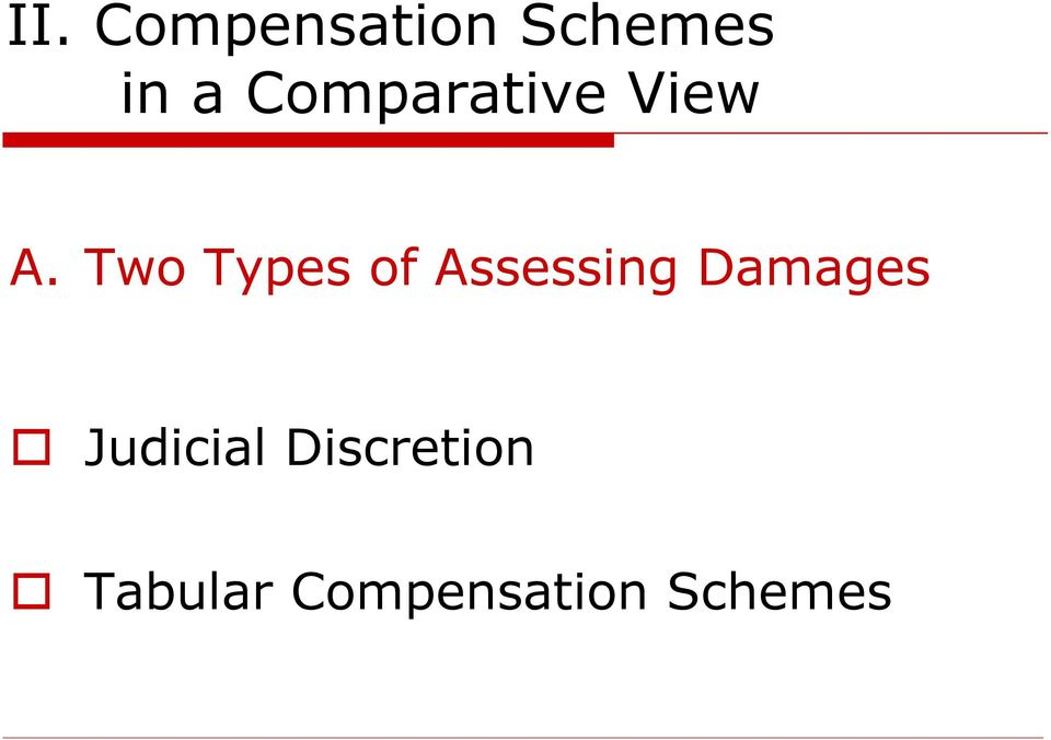 Two Types of Assessing Damages