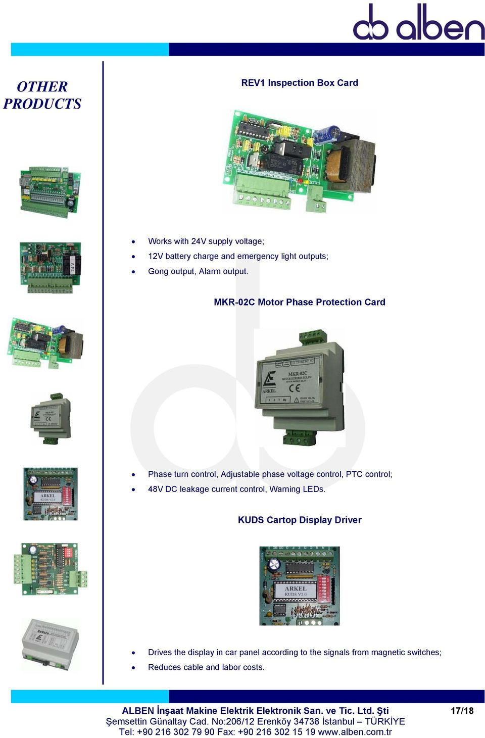 MKR-02C Motor Phase Protection Card Phase turn control, Adjustable phase voltage control, PTC control; 48V DC leakage current