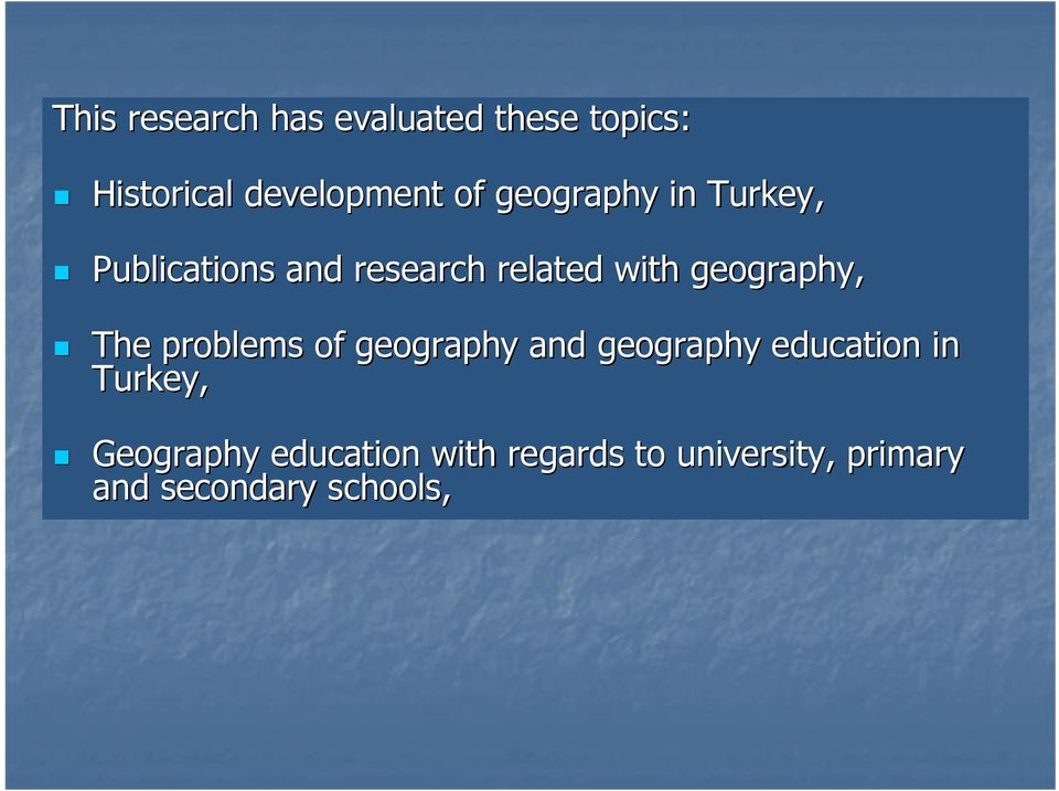 geography, The problems of geography and geography education in