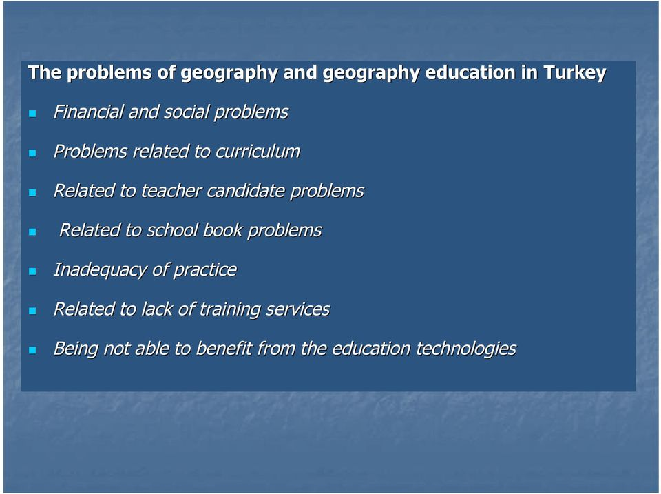 problems Related to school book problems Inadequacy of practice Related to