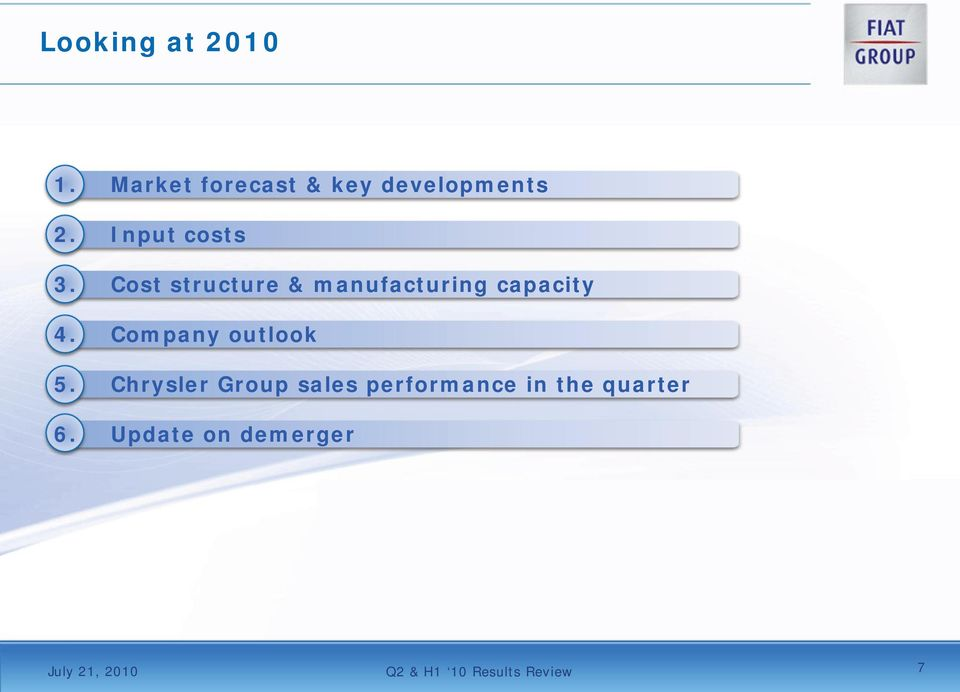 Company outlook 5.