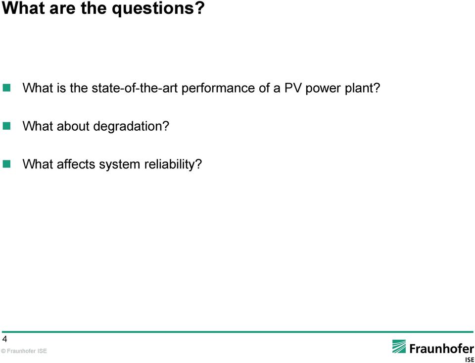 performance of a PV power plant?