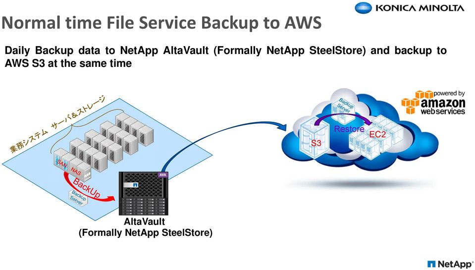 NetApp SteelStore) and backup to