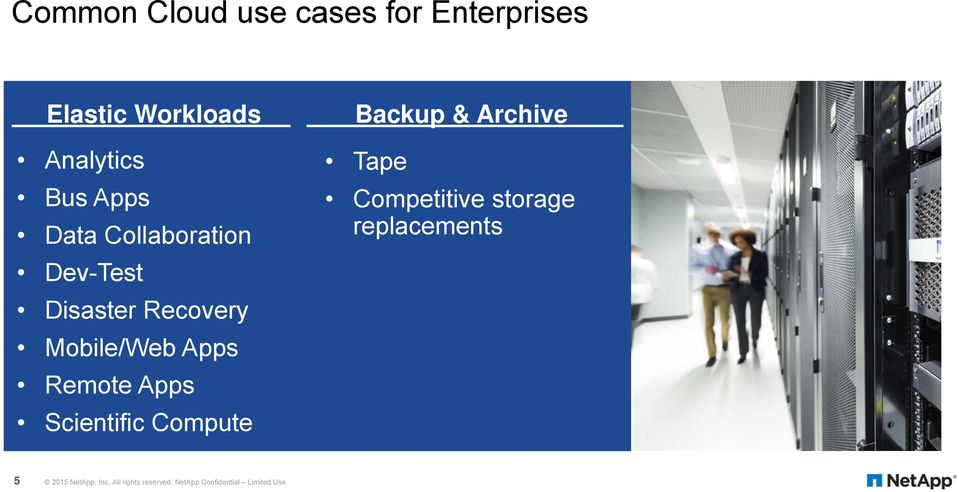 Apps Scientific Compute Backup & Archive Tape Competitive storage