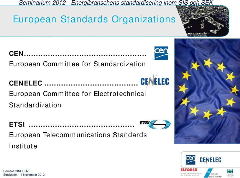 .. European Committee for Electrotechnical