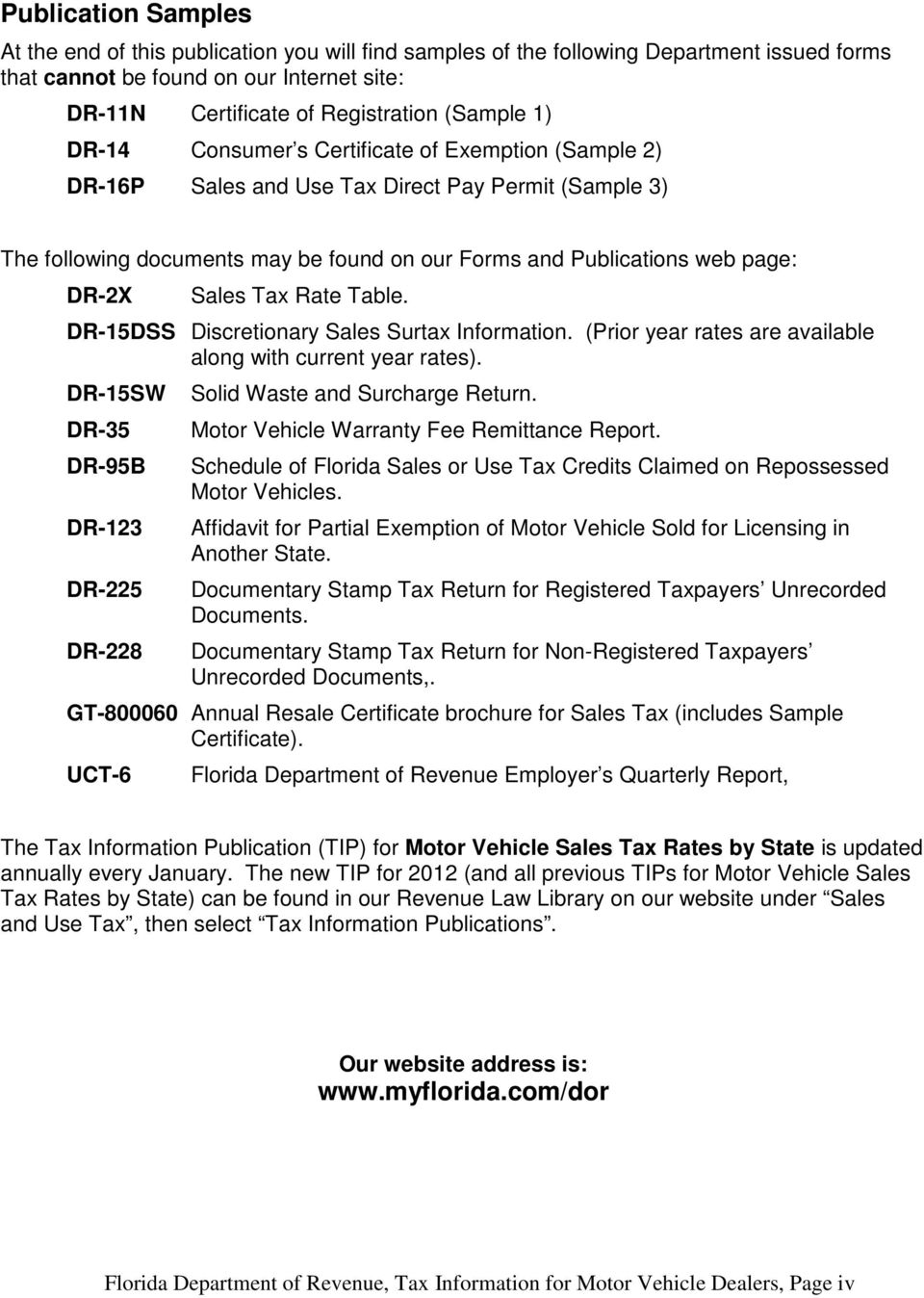 Tax Information For Motor Vehicle Dealers Pdf